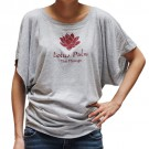 Flowy Sleeves Top with Lotus Flower
