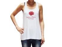 Racerback Tank Top with Lotus Flower